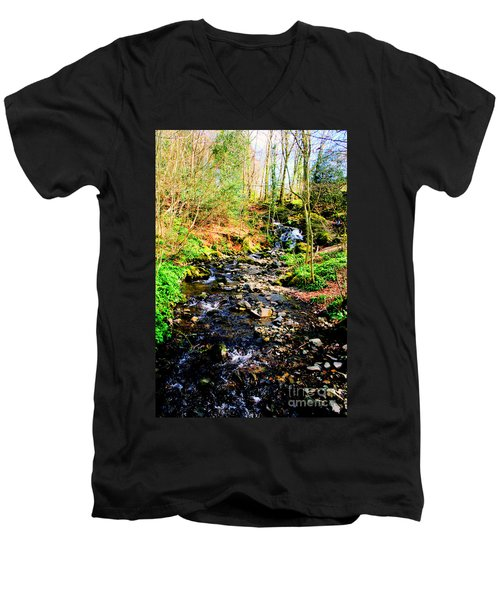 Men's V-Neck T-Shirt featuring the photograph Country Life by Doc Braham