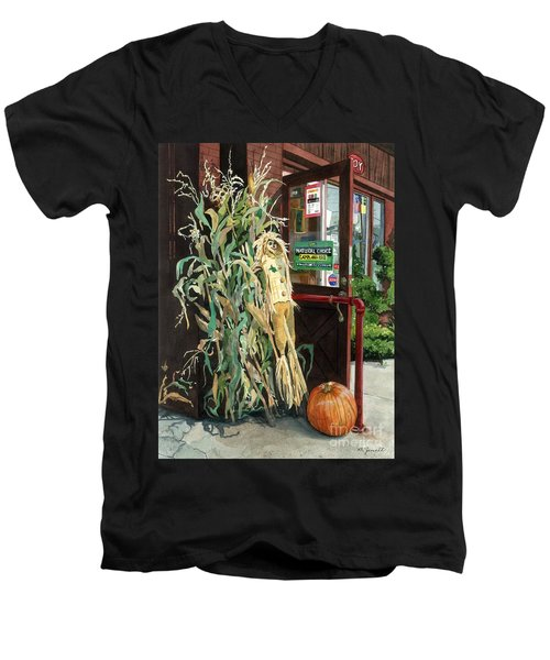 Country Store Men's V-Neck T-Shirt by Barbara Jewell