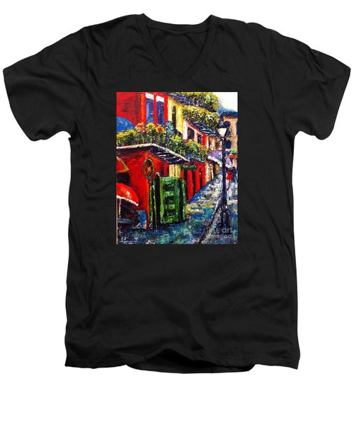 Couple In Pirate's Alley Men's V-Neck T-Shirt