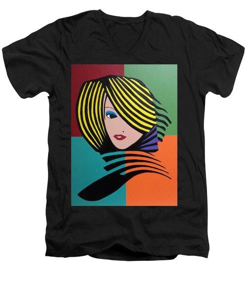 Cover Girl Men's V-Neck T-Shirt