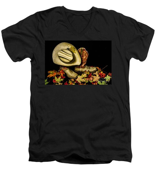 Cow Boots And Hat Men's V-Neck T-Shirt