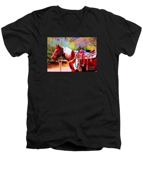 Cowgirl Up Men's V-Neck T-Shirt