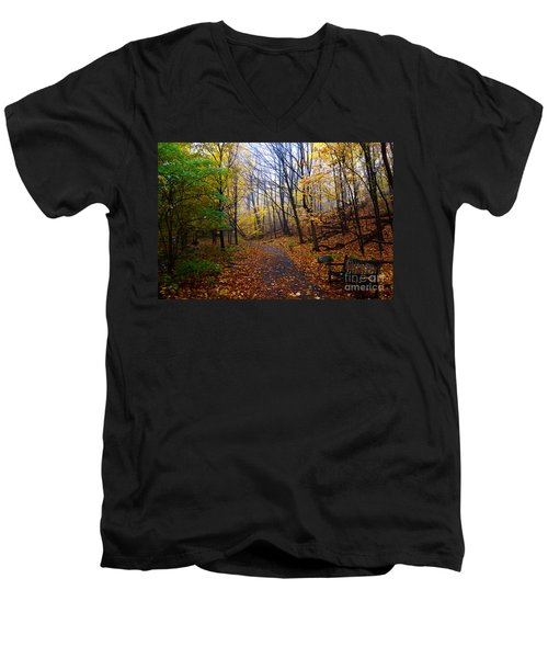 Cozy Fall Corner Men's V-Neck T-Shirt