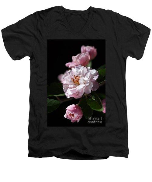 Crabapple Flowers Men's V-Neck T-Shirt