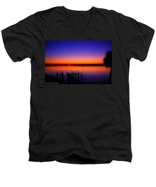 Crack Of Dawn Men's V-Neck T-Shirt by Shannon Harrington