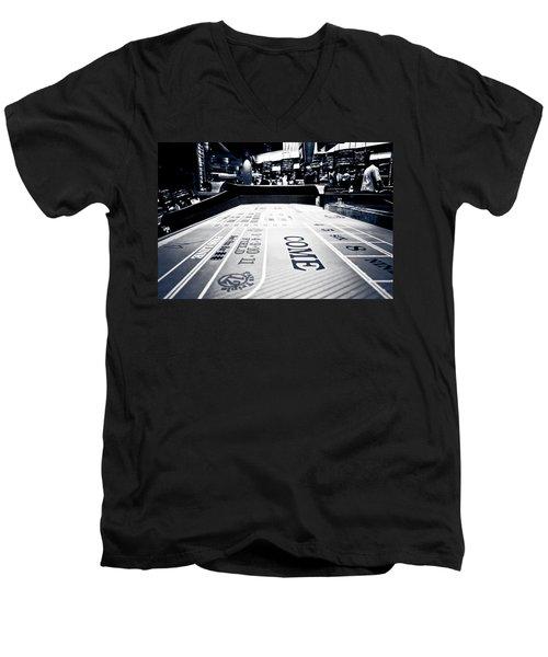 Craps Table In Las Vegas Men's V-Neck T-Shirt
