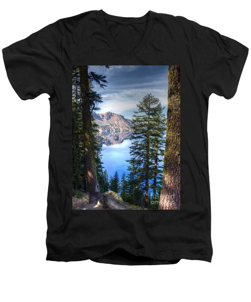 Crater Lake 1 Men's V-Neck T-Shirt