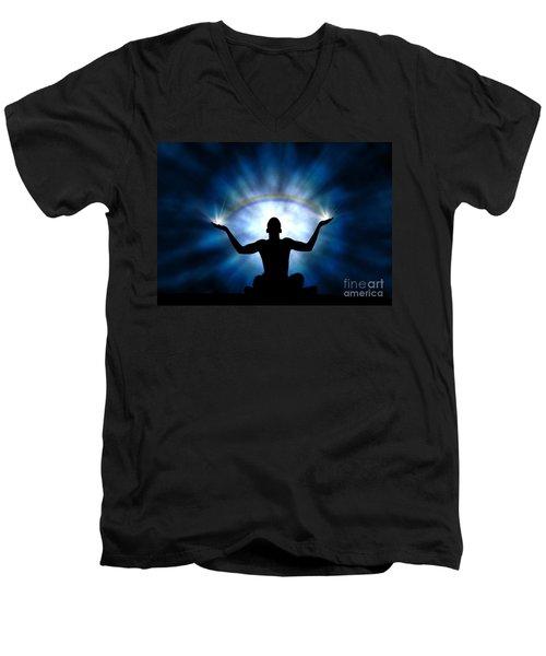 Creating The Rainbow Men's V-Neck T-Shirt
