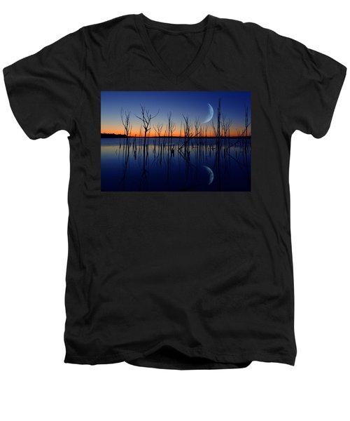 The Crescent Moon Men's V-Neck T-Shirt