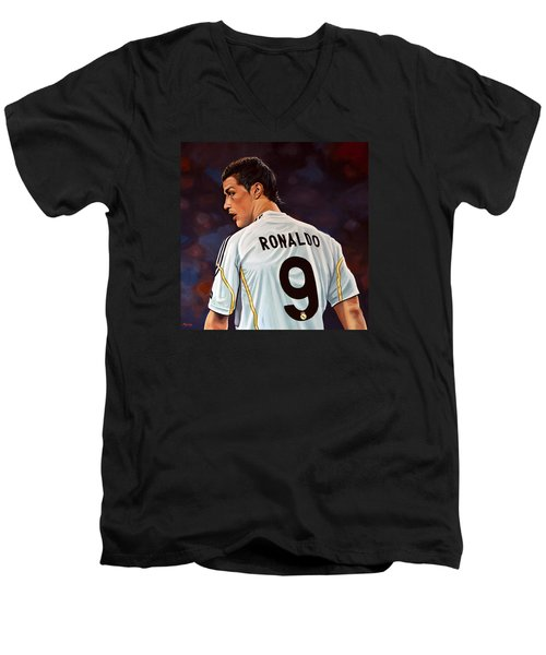Cristiano Ronaldo Men's V-Neck T-Shirt by Paul Meijering