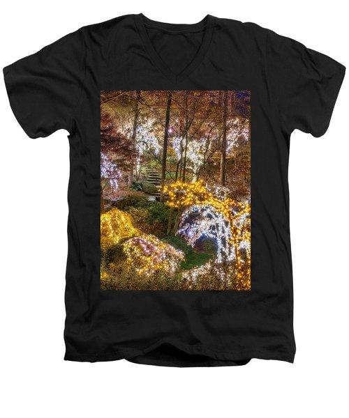 Golden Valley - Crop Men's V-Neck T-Shirt