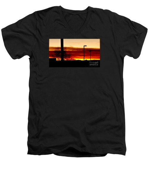 Cross The Skies Men's V-Neck T-Shirt