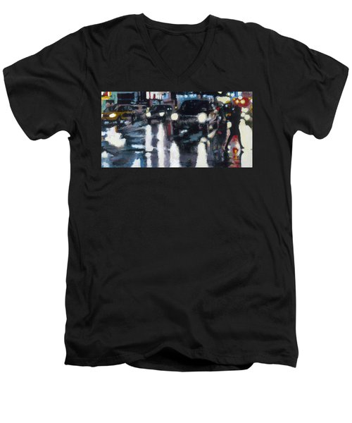 Crossed Men's V-Neck T-Shirt