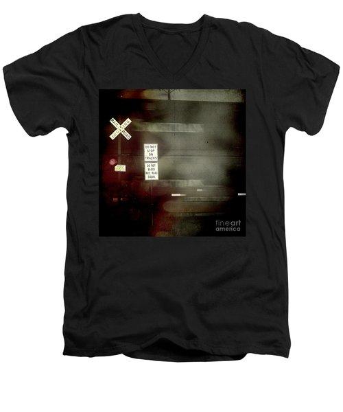 Crossing The End Men's V-Neck T-Shirt