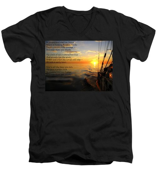 Cruising Poem Men's V-Neck T-Shirt