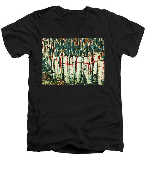 Crusade Shields 4. Men's V-Neck T-Shirt