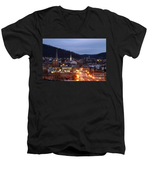 Cumberland At Night Men's V-Neck T-Shirt by Jeannette Hunt
