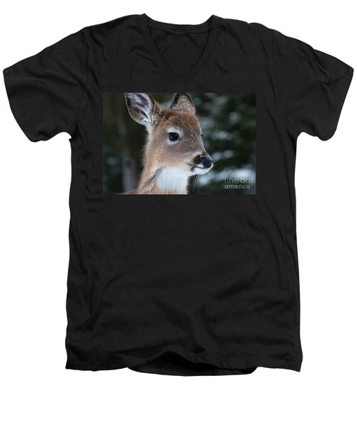 Curious Fawn Men's V-Neck T-Shirt