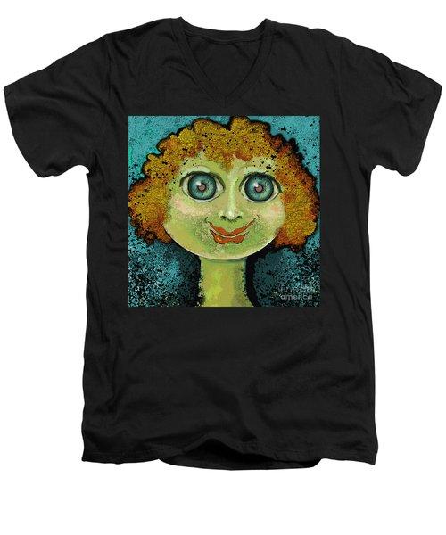 Curl Gurl Men's V-Neck T-Shirt by Carol Jacobs