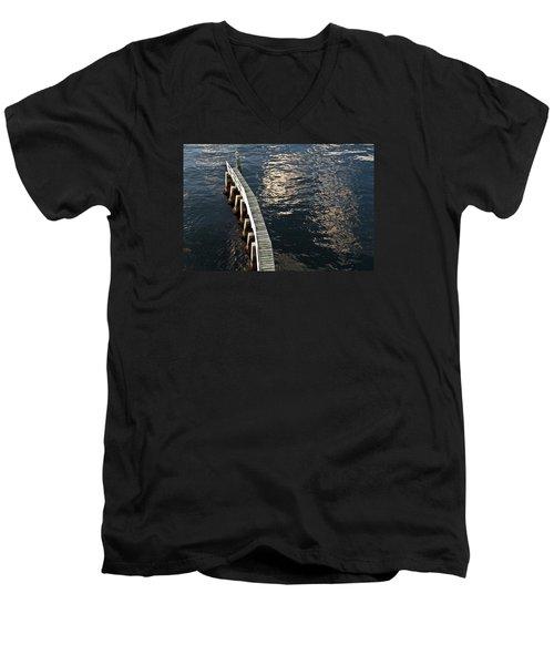 Curved Fender Las Olas Drawbridge Fort Lauderdale Florida Men's V-Neck T-Shirt