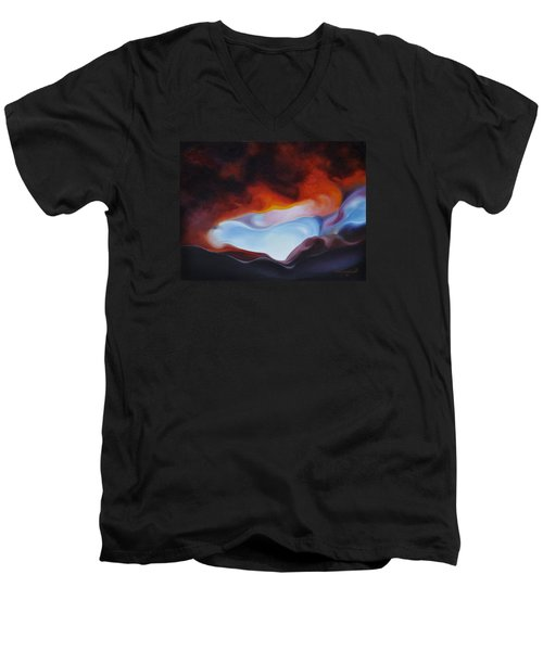 Curves On The Horizon Men's V-Neck T-Shirt by Craig Burgwardt