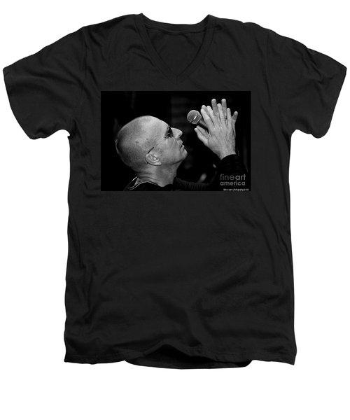 Cy Curnin The Fixx By Diana Sainz Men's V-Neck T-Shirt