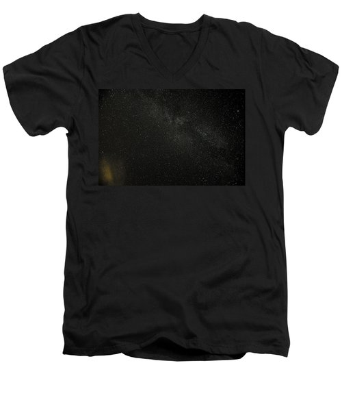 Men's V-Neck T-Shirt featuring the photograph Cygnus  Deneb  Vega by Greg Reed