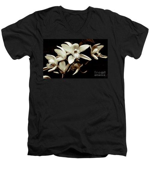 Cymbidium Orchids Men's V-Neck T-Shirt