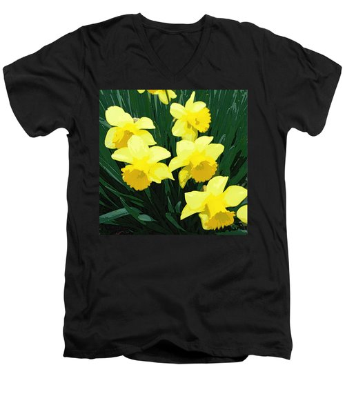 Daffodil Song Men's V-Neck T-Shirt