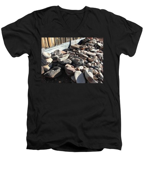 Men's V-Neck T-Shirt featuring the photograph Daily Grind by Natalie Ortiz
