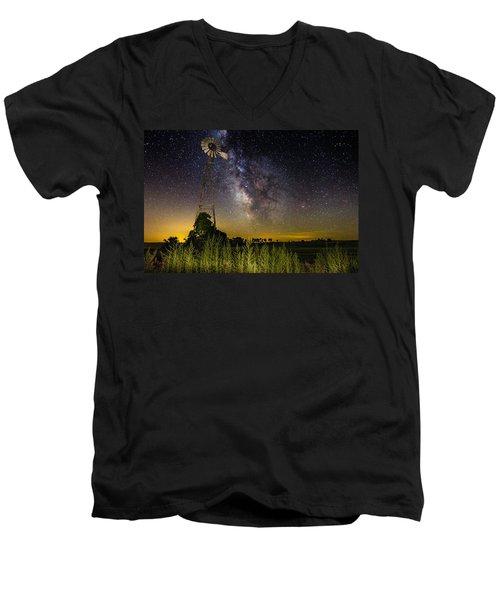Dakota Night Men's V-Neck T-Shirt