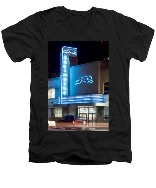 Dallas Greyhound V2 020915 Men's V-Neck T-Shirt