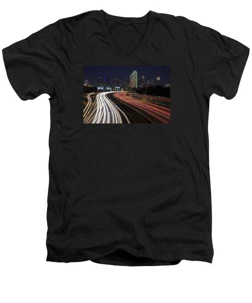 Dallas Night Men's V-Neck T-Shirt