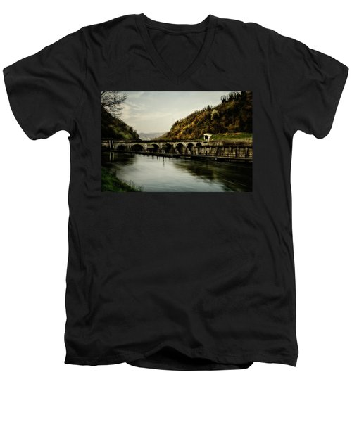 Dam On Adda River Men's V-Neck T-Shirt