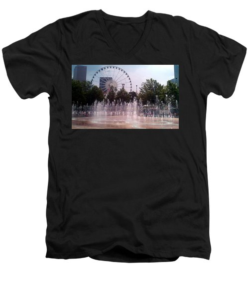 Dancing Fountains Men's V-Neck T-Shirt