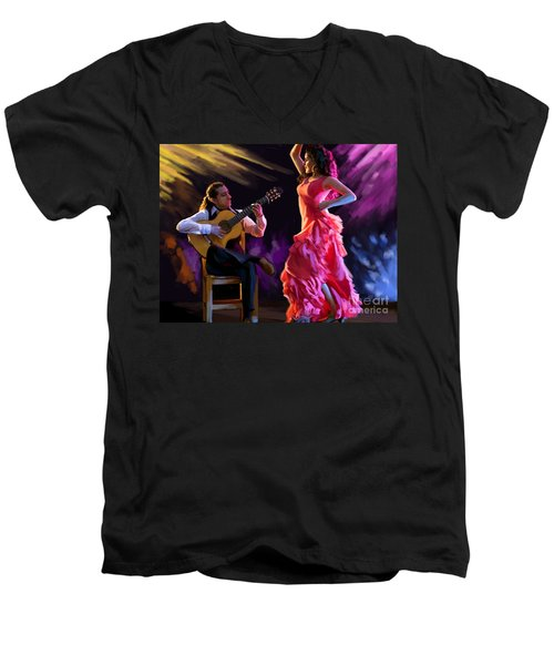 Dancing Gypsy Woman Men's V-Neck T-Shirt