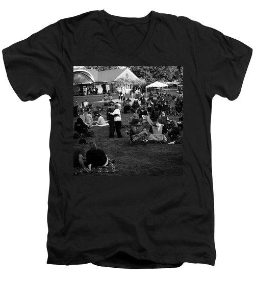 Dancing In The Park Men's V-Neck T-Shirt