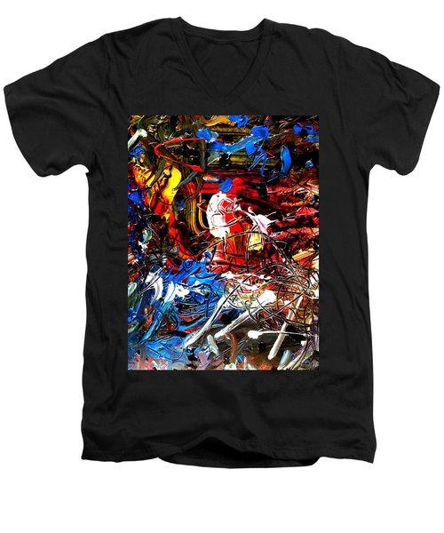 Micky Mouse Men's V-Neck T-Shirt