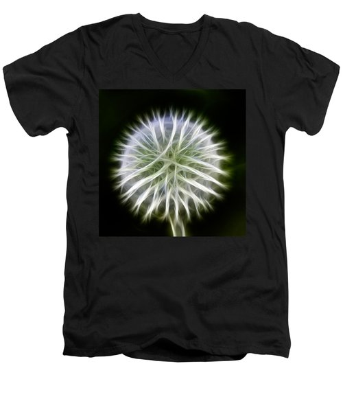 Dandelion Abstract Men's V-Neck T-Shirt