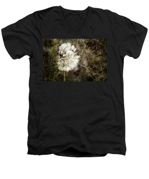 Dandelions Don't Care About The Time Men's V-Neck T-Shirt