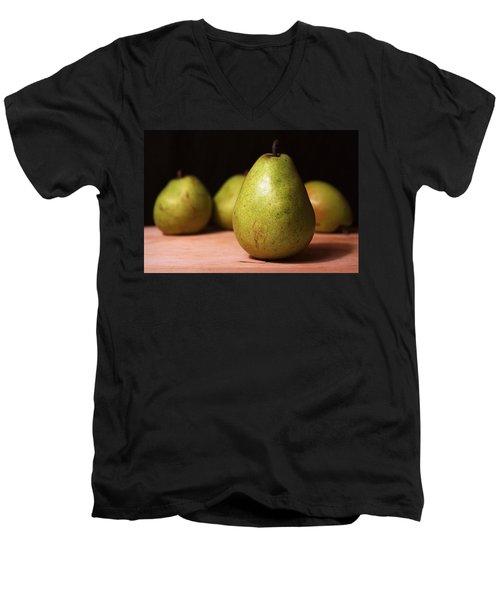 D'anjou Pears Men's V-Neck T-Shirt by Joseph Skompski