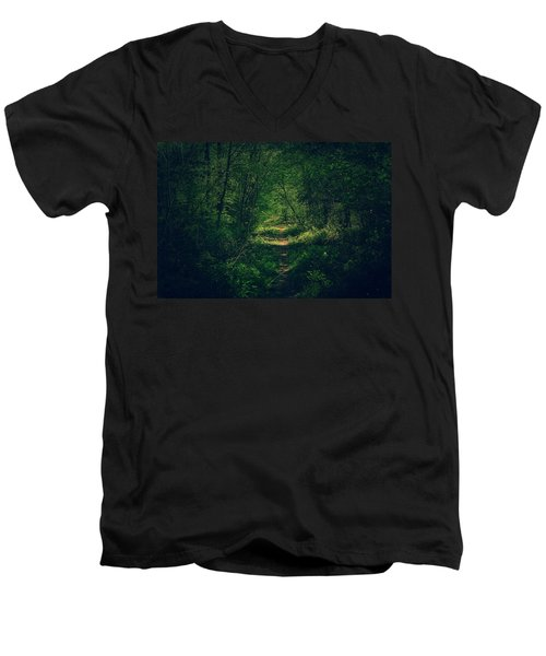 Dark Forest Men's V-Neck T-Shirt by Daniel Precht