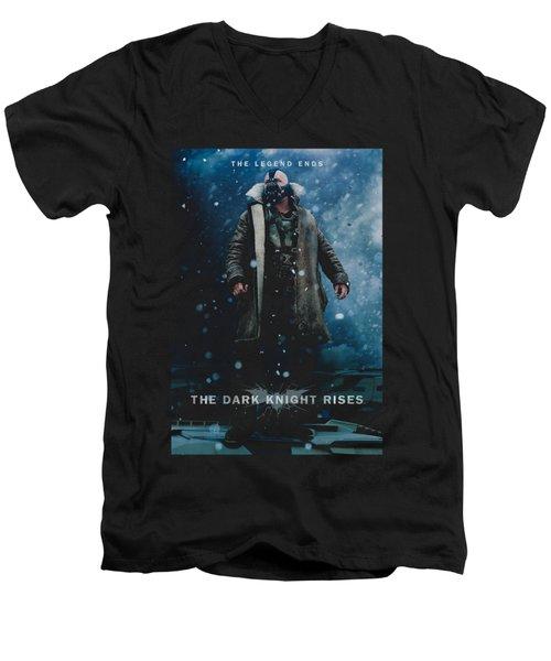 Dark Knight Rises - Bane Poster Men's V-Neck T-Shirt