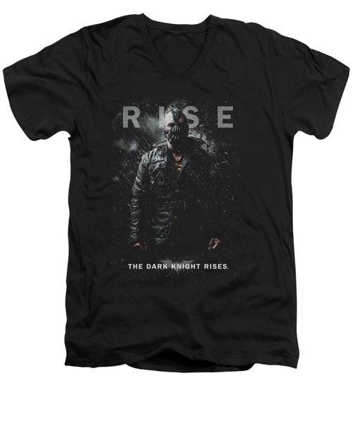 Dark Knight Rises - Bane Rise Men's V-Neck T-Shirt