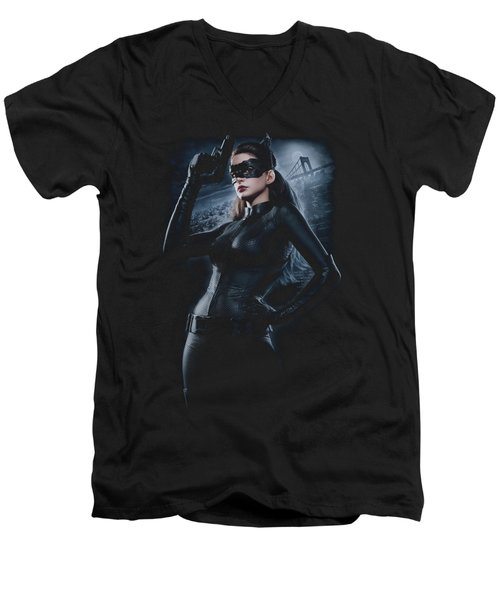 Dark Knight Rises - Out On The Town Men's V-Neck T-Shirt