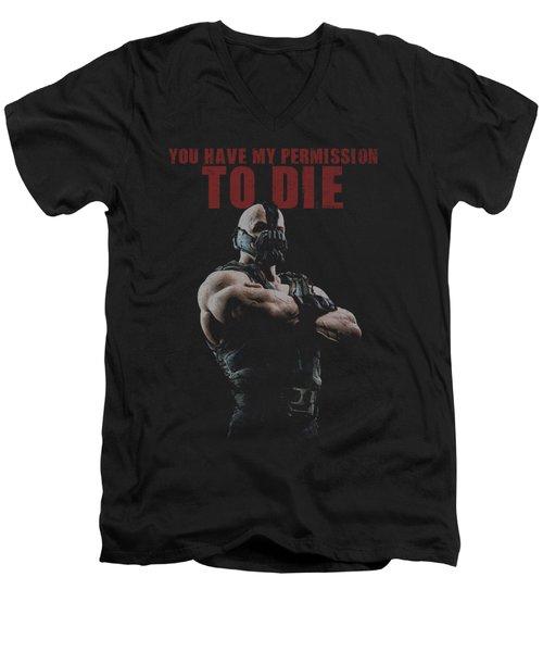Dark Knight Rises - Permission To Die Men's V-Neck T-Shirt