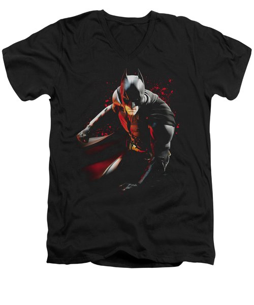 Dark Knight Rises - Ready To Punch Men's V-Neck T-Shirt