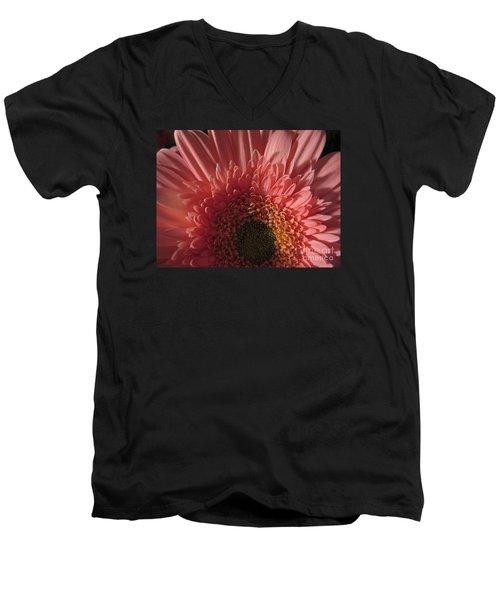 Men's V-Neck T-Shirt featuring the photograph Dark Radiance by Ann Horn