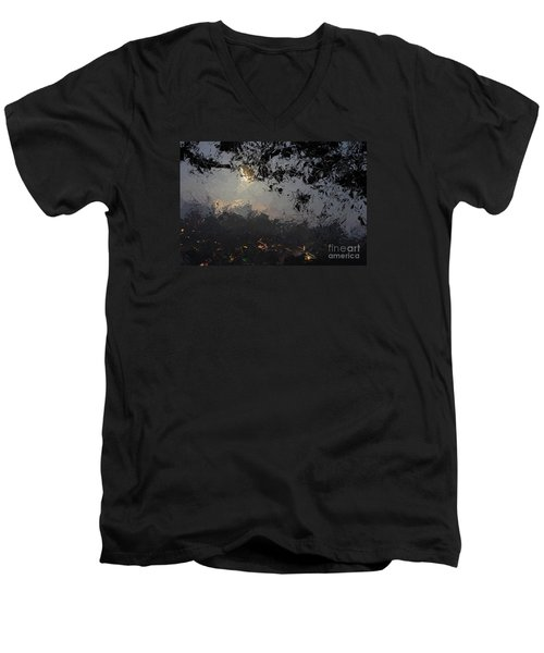Dark Rain Men's V-Neck T-Shirt by The Art of Alice Terrill