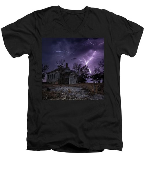 Dark Stormy Place Men's V-Neck T-Shirt